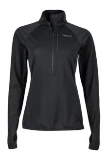 Wm's Neothermo 1/2 Zip, Black, medium