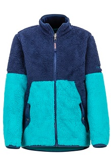 Girls' Lariat Fleece, Blue Tile/Arctic Navy, medium