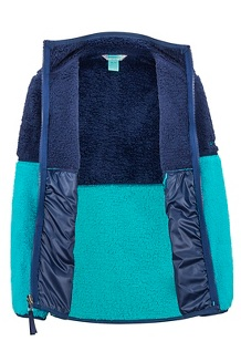 Girls' Lariat Fleece, Blue Tile/Arctic Navy, medium
