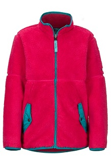 Girls' Lariat Fleece, Disco Pink, medium