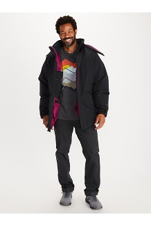 Men's Mammoth Parka, Black, medium