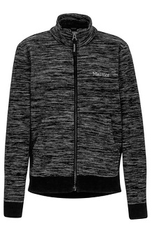 Boys' Couloir Fleece Jacket, True Black, medium
