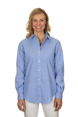 Image for Van Heusen Women's Long Sleeve Pinpoint Stretch Solid from PVH Corporate Outfitters