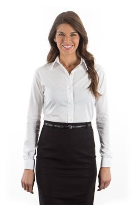 Image for Van Heusen Women's Resin Finish Oxford - Long Sleeve from PVH Corporate Outfitters