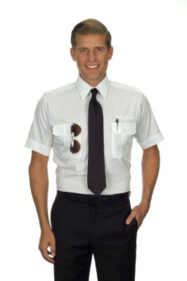 Image for Van Heusen Men's Tall Fit Short Sleeve Pilot Shirt from PVH Corporate Outfitters