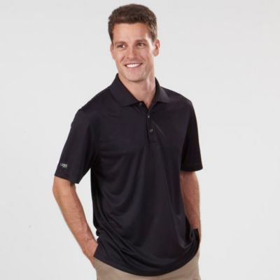 Image for IZOD Men's Short Sleeve Performance Polyester Solid Dobby Polo from PVH Corporate Outfitters