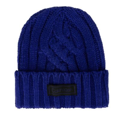 Image for Calvin Klein Crossroad Cable Rib Cuff Chunky Beanie from PVH Direct
