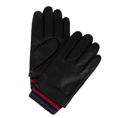 Image for Tommy Hilfiger Striped Rib Knit Cuff Leather Touch Screen Touch Glove from PVH Direct