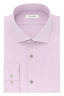 Image for Calvin Klein Steel Slim Fit Non Iron Stretch Mini Stripe from PVH Direct