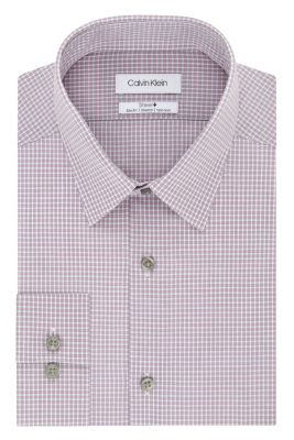 Image for Calvin Klein Steel Slim Fit Non Iron Stretch Check from PVH Direct