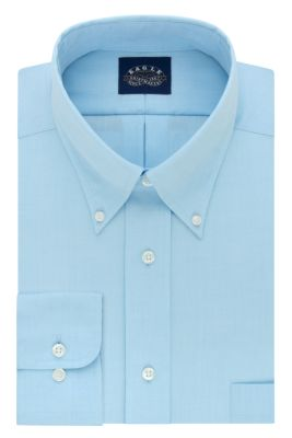 Image for Eagle Regular Fit Non Iron Oxford Solid Stretch Buttondown Collar from PVH Direct