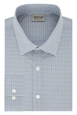Image for Kenneth Cole Reaction STAY CRISP COLLAR Extra Slim Fit Stretch Check from PVH Direct