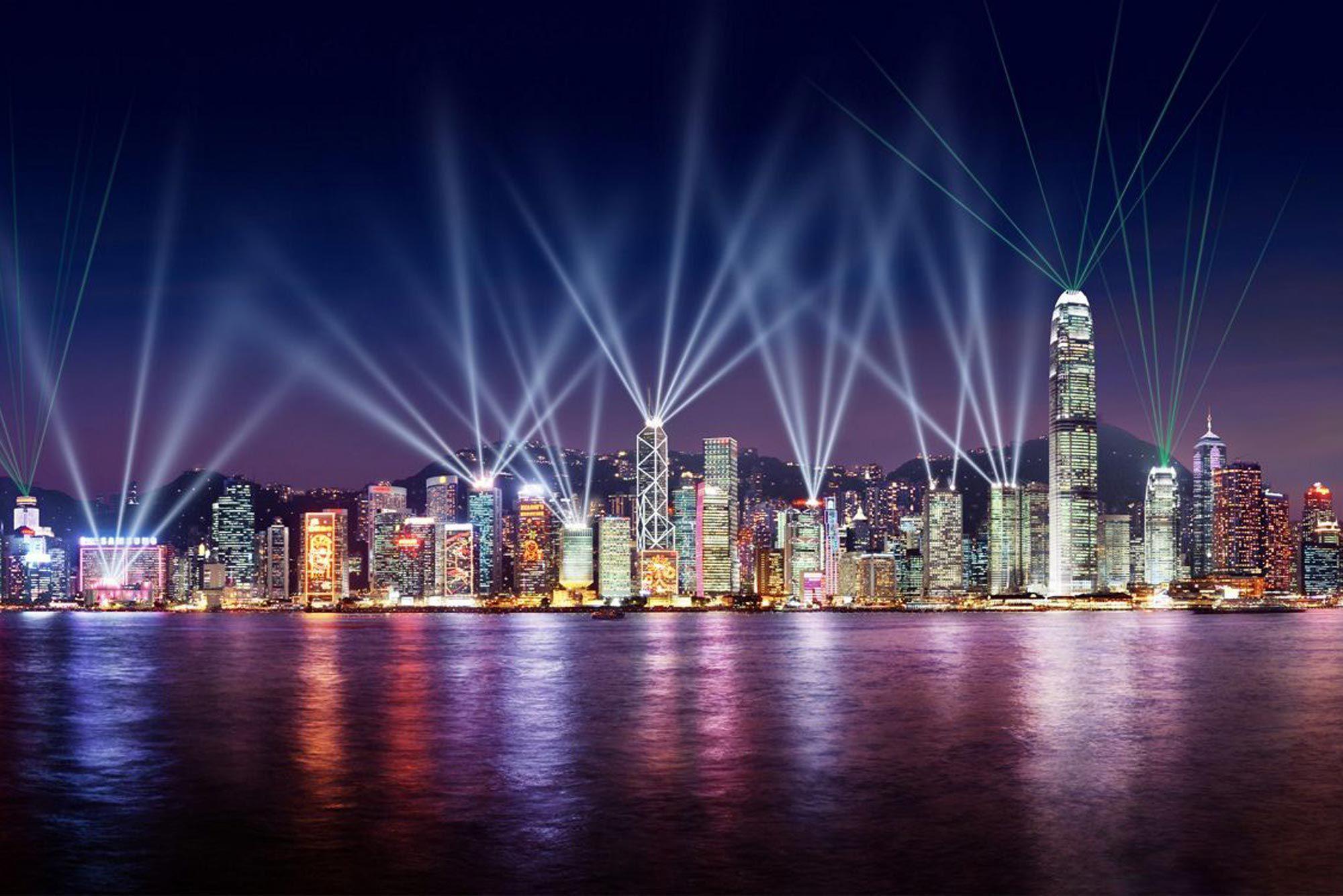 Image result for hong kong city at night
