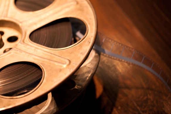 An old-fashioned movie reel