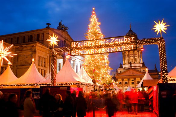 Christmas market on the Gendarmenmarkt Berlin Germany