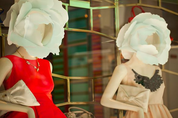 Mannequins in a store window