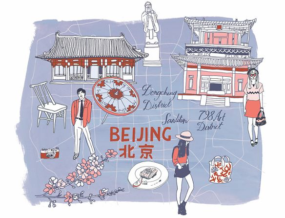 Illustration of the city of Beijing