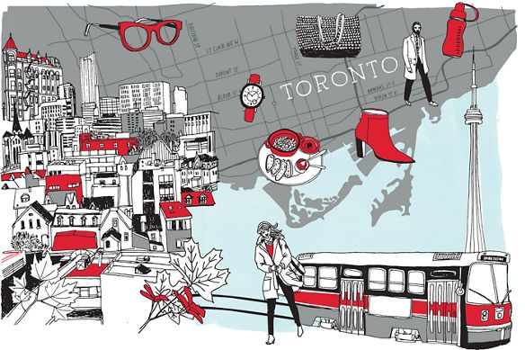 Illustration of city of Toronto