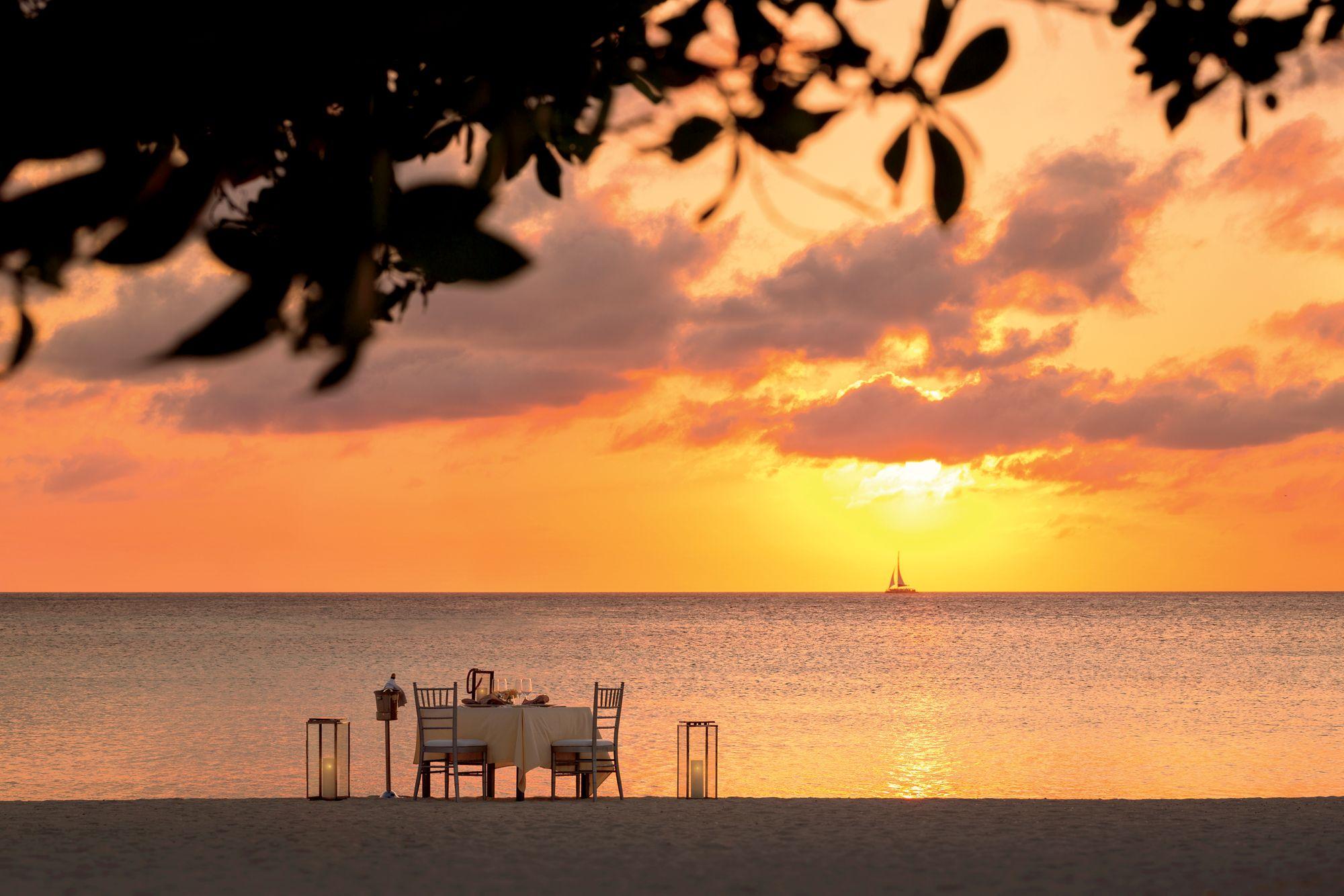 Dinner On The Beach The Ritz Carlton Aruba