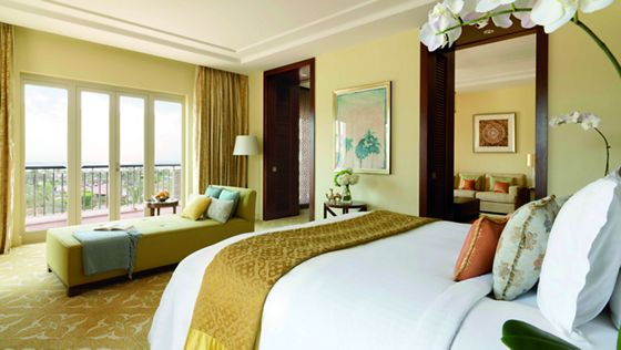 Executive Suite bedroom with a private balcony