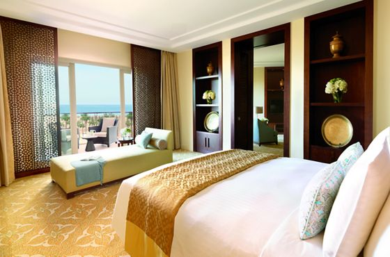 Luxurious and spacious Junior Suite with king bed and private balcony