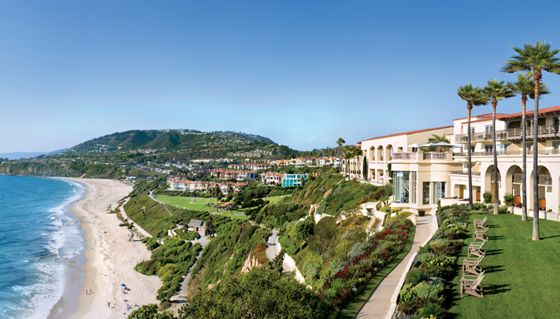 Clifftop resort overlooking the ocean