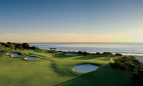 Golf course overlooking the ocean