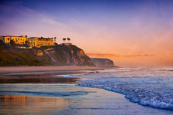 Clifftop resort overlooking the ocean