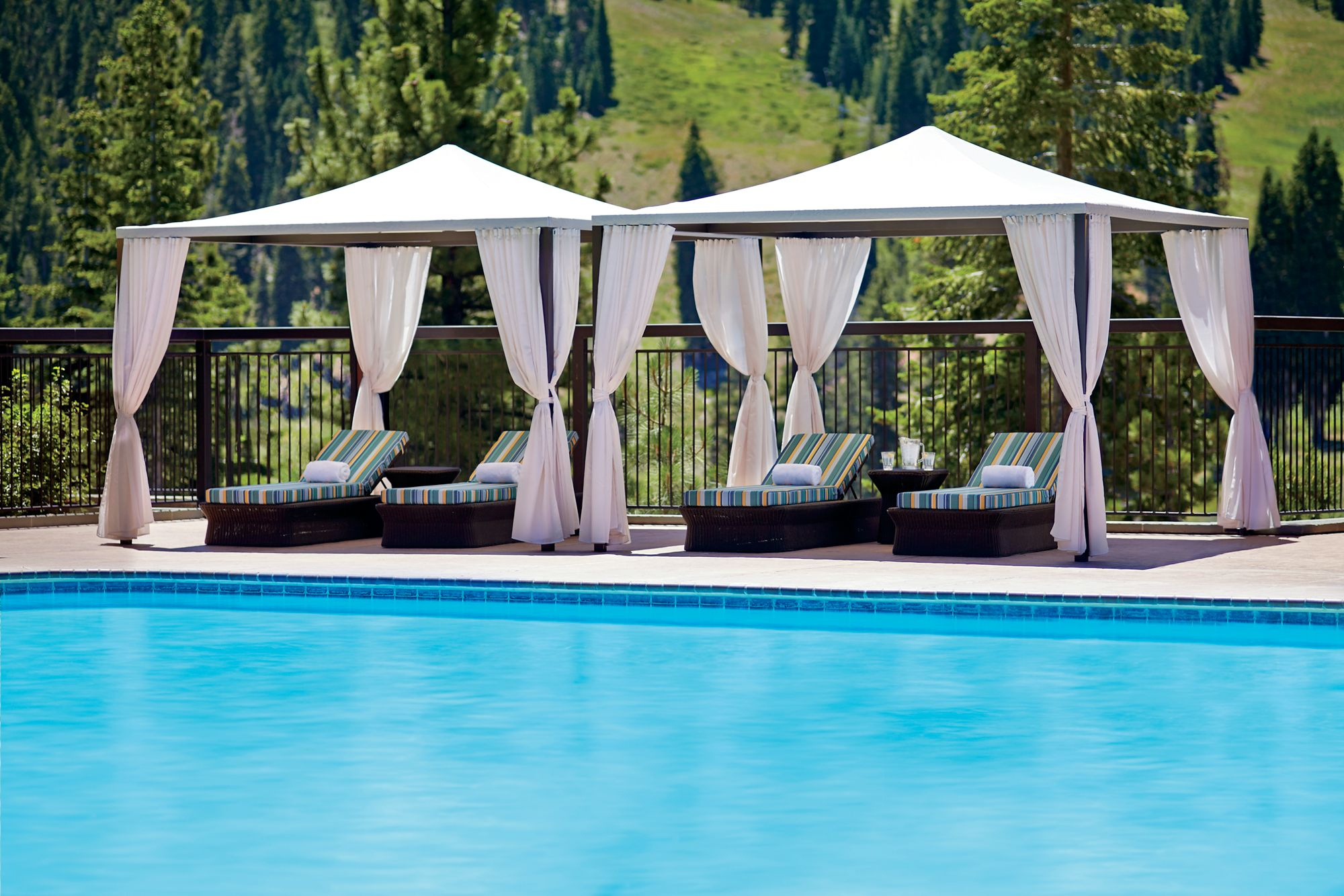 Strange Poolside Cabanas The Ritz Carlton Lake Tahoe Gmtry Best Dining Table And Chair Ideas Images Gmtryco