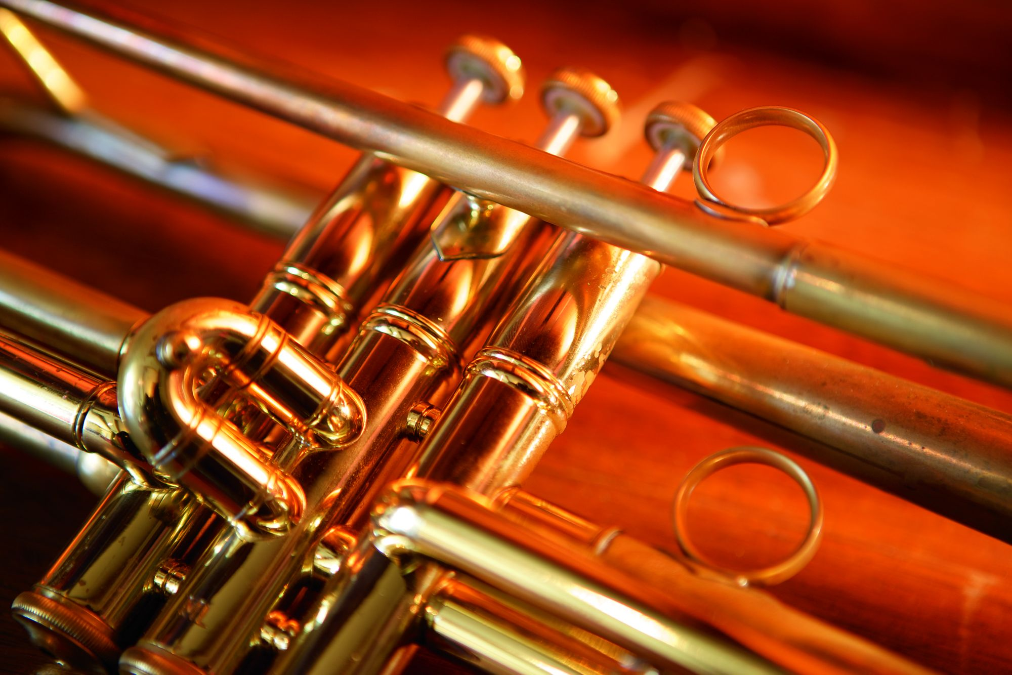 Close-up of a trumpet
