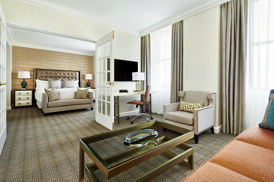 Newly renovated executive one-bedroom suite.