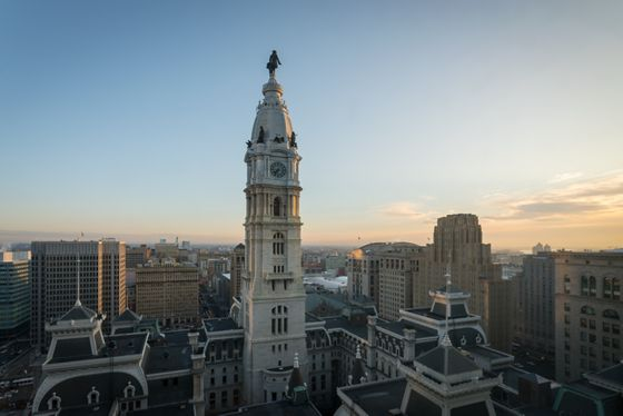 View of City Hall from Club Lounge.