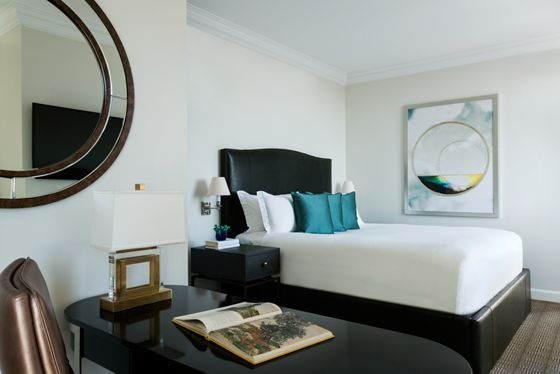 Presidential Suite Bedroom with Desk and Chair.