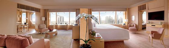 Airy suite accommodations at The Ritz-Carlton, Millenia Singapore