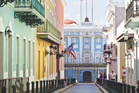 City block in San Juan, Puerto Rico
