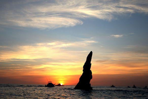 Cabo San Lucas beach at sunset