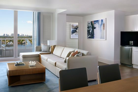 Two-Bedroom Intracoastal Residential Suite - Living Room