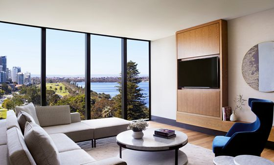 Langley Park Suite Living Space & View