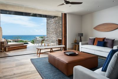 Cortes Ocean View Suite - Living Room & Terrace