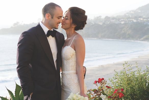 Bride and groom overlooking the cliff The Ritz-Carlton, Laguna Niguel