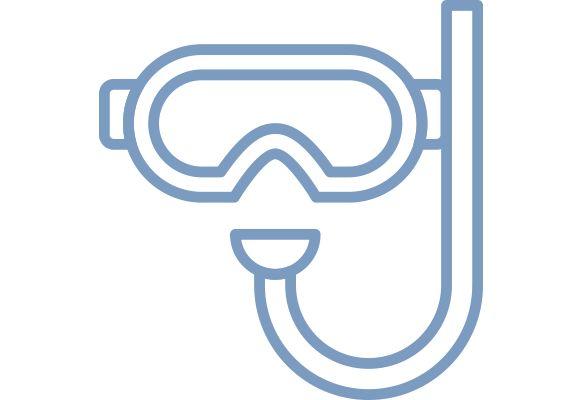 Snorkel gear icon