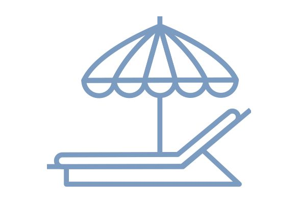sun lounger icon