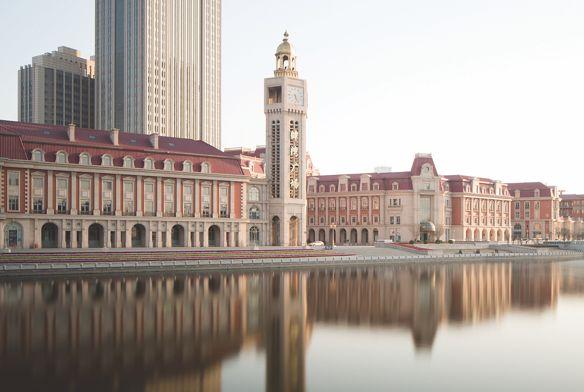 Jinwan Plaza in Tianjin, on the edge of the Hai River