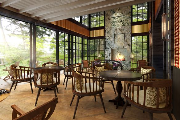 1st floor of Italian restaurant