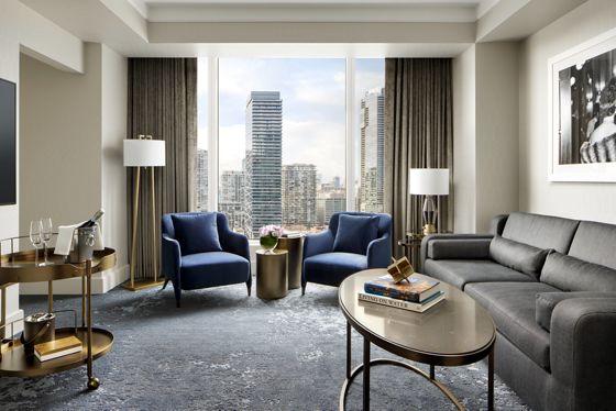 One-Bedroom Corner Suite - Living Room