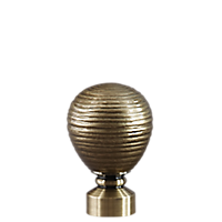 "1 1/8"" Contour Striated Ball /AB"