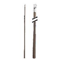 "Metal Baton with Plastic Attachment - 36"" /BZ"