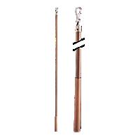 "Metal Baton with Steel Clip - 36"" /AC"