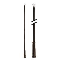 """36"""" Baton with Plastic Attachment /BZ"""