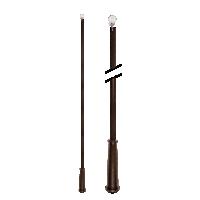 """36"""" Baton with Plastic Attachment /OWD"""